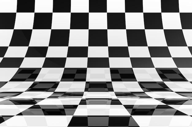 Fundo preto e branco do tabuleiro de xadrez