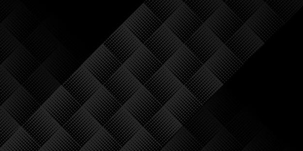 Fundo preto geométrico moderno para negócios ou apresentação corporativa. ilustração vetorial