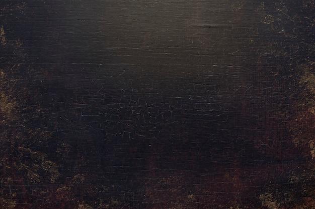 Fundo preto sujo de textura de madeira
