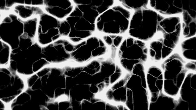 Fundo preto tem um padrão de linhas de plasma branco espalhadas por toda parte.