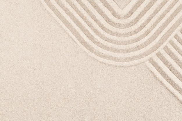 Fundo quadrado de areia zen no conceito de atenção plena