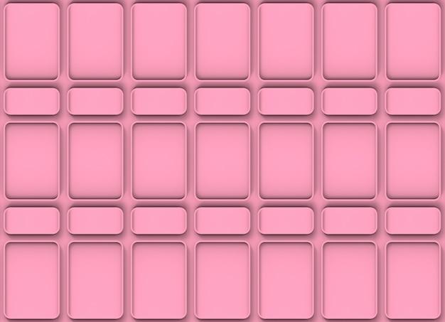 Fundo quadrado redondo cor-de-rosa moderno da parede da telha do teste padrão da forma.