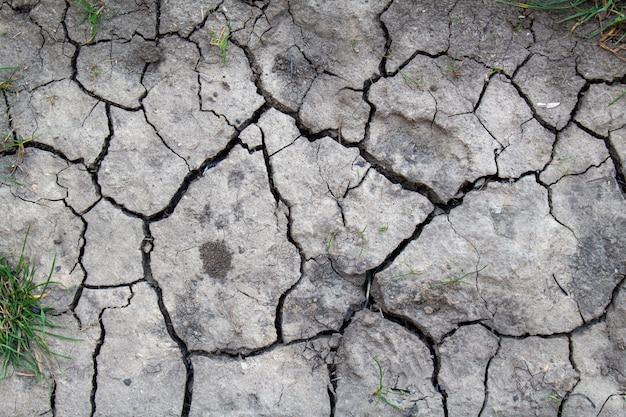 Fundo rachado da textura da terra secada, fim acima. seca, erosão, conceito de problema de ecologia.