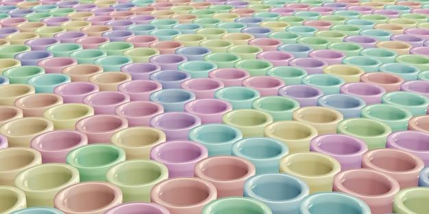 Fundo redondo em bastão em cor pastel estrutura circular