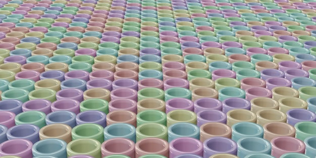 Fundo redondo em forma de bastão em cor pastel
