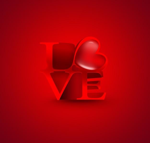 Fundo romântico com corações