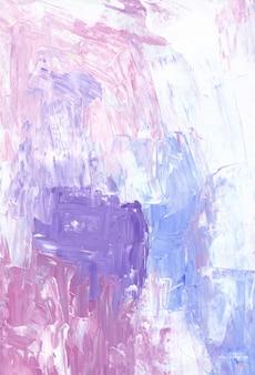 Fundo rosa, azul, branco e roxo com textura. cenário de luz de paleta de acrílico.