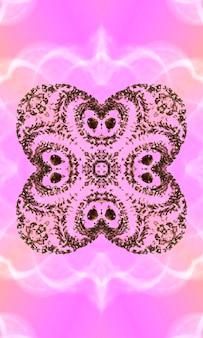Fundo rosa pastel do caleidoscópio, arte abstrata do padrão - padrões minimalistas para decoração de casa, arte da parede, impressão em tela e mais imagem vertical.