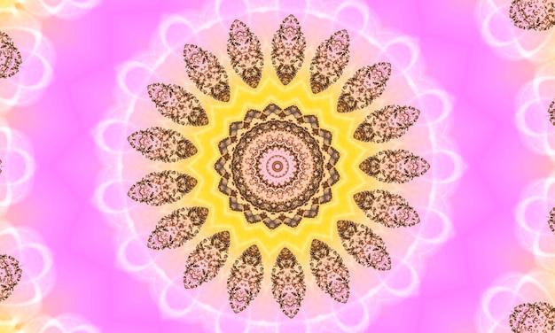 Fundo rosa pastel do caleidoscópio, arte de padrão abstrato - padrões minimalistas para decoração de casa, arte de parede, impressão em tela e muito mais