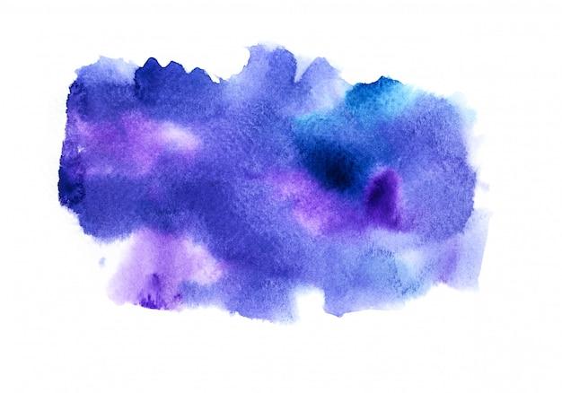 Fundo roxo da aguarela. pintura de mão de arte