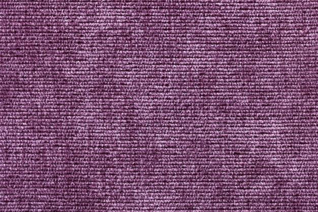 Fundo roxo de material têxtil suave, tecido com textura natural