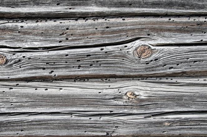 Fundo rústico de madeira de celeiro envelhecida com nós e orifícios de pregos