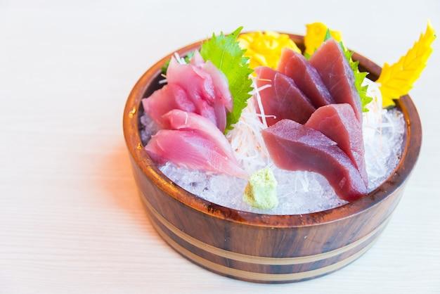 Fundo sashimi saudável japão oriental