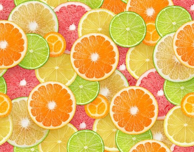 Fundo sem emenda de frutas cítricas