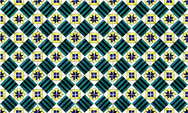 Fundo sem emenda de portugal ou da telha de espanha azulejo. alta resolução.