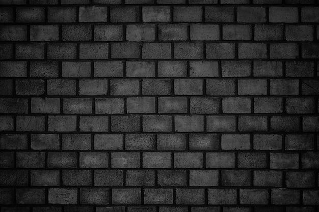Fundo sombrio, parede de tijolos pretos com textura de pedra escura