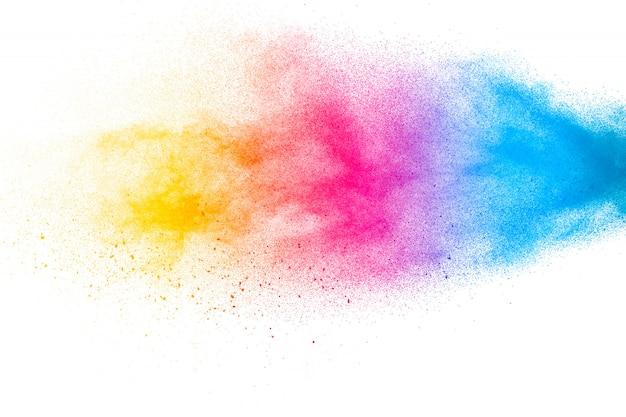 Fundo textured das partículas de poeira partículas coloridas abstratas.