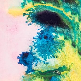 Fundo texturizado brilhante colorido com tinta aquarela