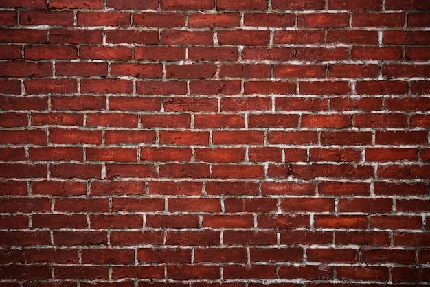 Fundo texturizado de parede de tijolo vermelho