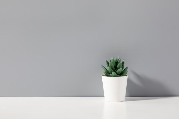 Fundo tridimensional criativo com vaso de flores