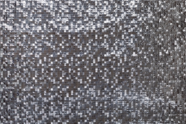 Fundo tridimensional metálico prateado