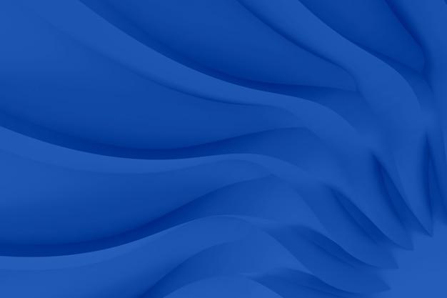 Fundo tridimensional paramétrico abstrato realista moderno de um conjunto de ondas onduladas