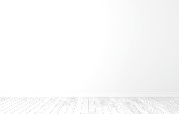 Fundo vazio da parede branca. ilustração 3d