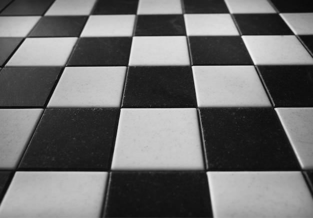 Fundo vazio de textura de tabuleiro de xadrez preto e branco
