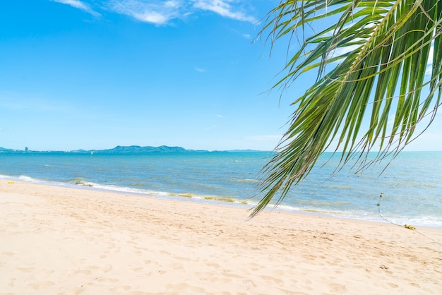 Fundo vazio do mar e da praia