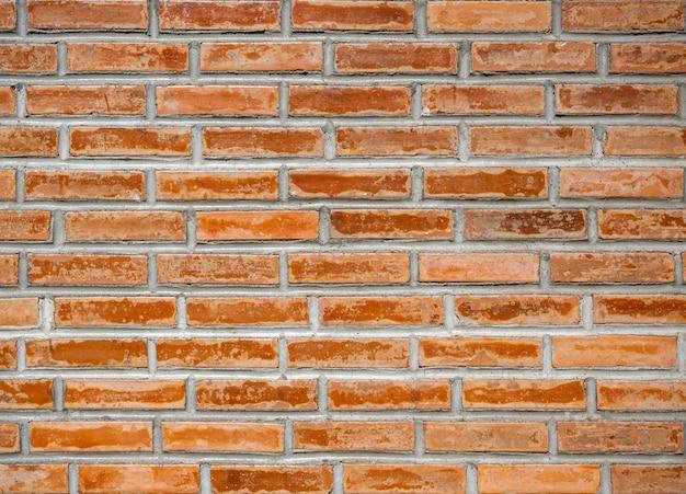 Fundo velho do grunge da textura da parede de tijolo vermelho