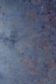 Fundo velho gasto do metal dos azuis marinhos com textura.