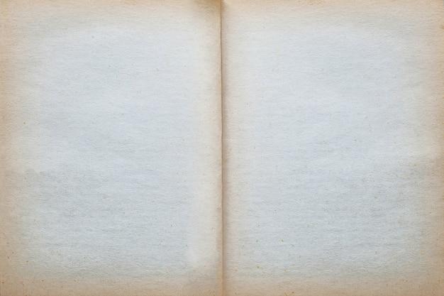 Fundo velho vazio da textura do papel da página do vintage.