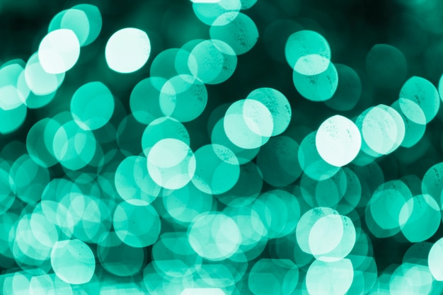 Fundo verde brilhante de bokeh