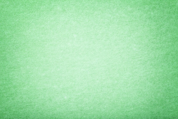 Fundo verde claro da tela da camurça matt. textura de veludo de feltro.