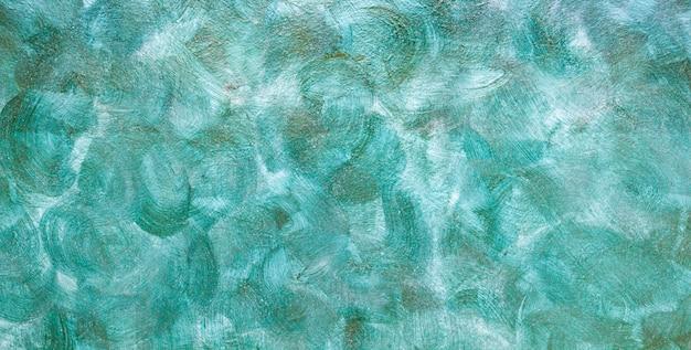 Fundo verde criativo com pintura abstrata.