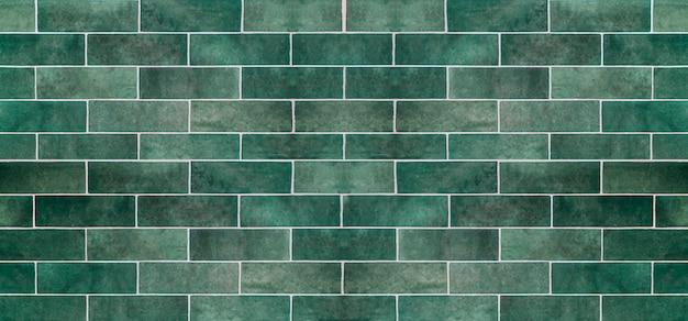 Fundo verde da telha cerâmica. azulejos antigos do vintage em verde para decorar a cozinha ou o banheiro