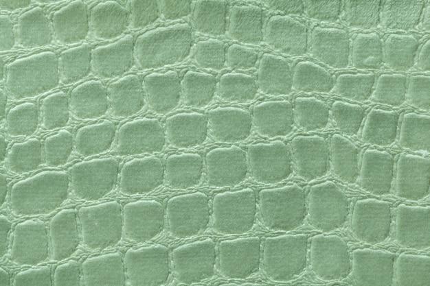 Fundo verde de material têxtil de estofamento macio, tecido