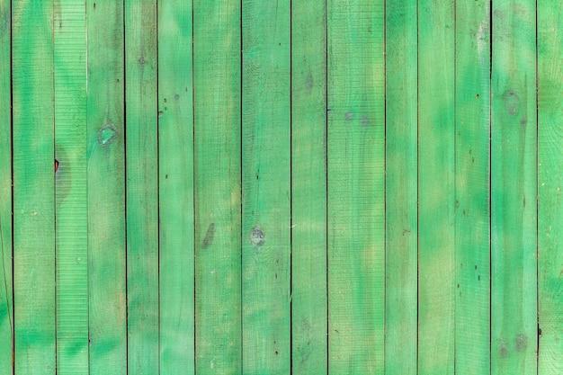 Fundo verde de tábuas de madeira