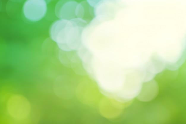 Fundo verde e azul borrado
