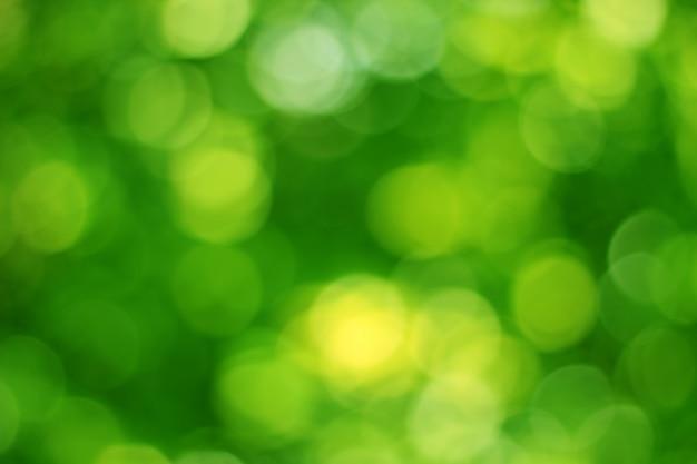 Fundo verde efeito bokeh