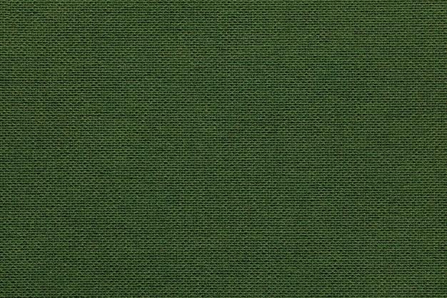Fundo verde escuro de um material têxtil com vime