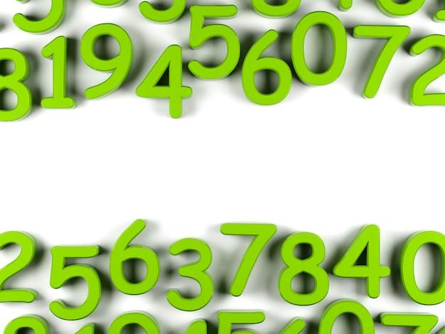 Fundo verde números