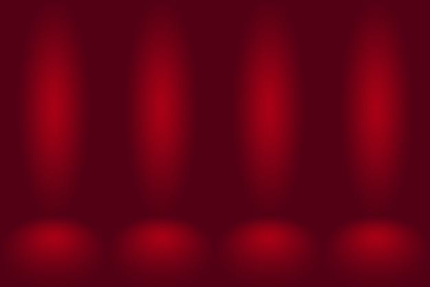 Fundo vermelho abstrato projeto de layout dos namorados de natal, estúdio, sala, modelo da web, relatório de negócios com cor gradiente de círculo suave