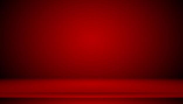 Fundo vermelho abstrato projeto de layout dos namorados de natal, estúdio, sala, modelo da web, relatório de negócios com cor gradiente de círculo suave.