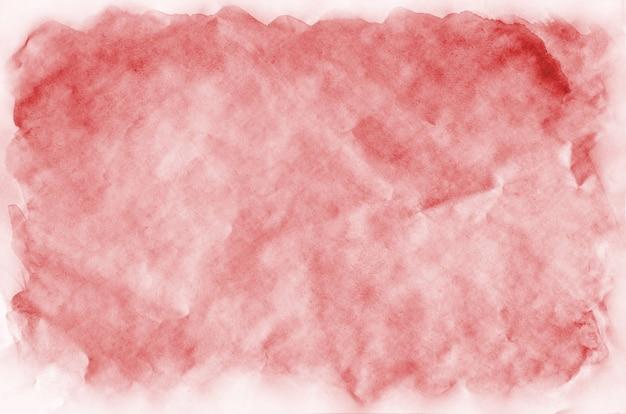 Fundo vermelho colorido da aguarela para o papel de parede. ilustração de cor brilhante aquarelle