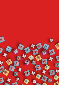 Fundo vermelho com presentes
