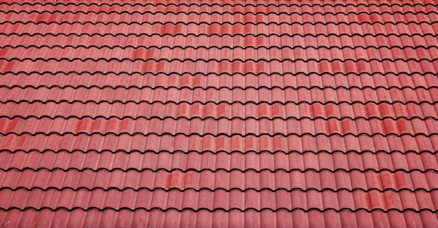 Fundo vermelho do telhado de azulejos