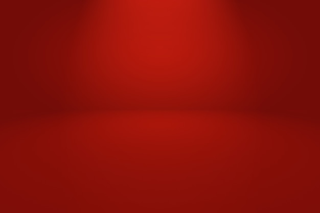 Fundo vermelho macio de luxo abstrato com cor gradiente de círculo suave.