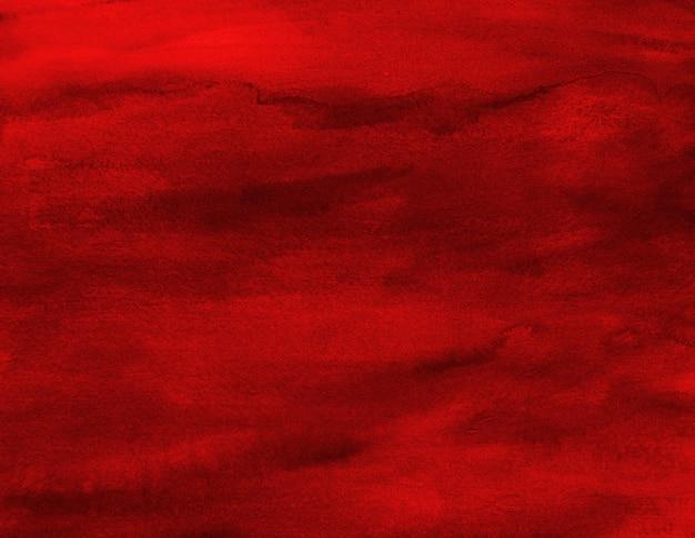 Fundo vermelho quente aquarela pintura mancha textura arte