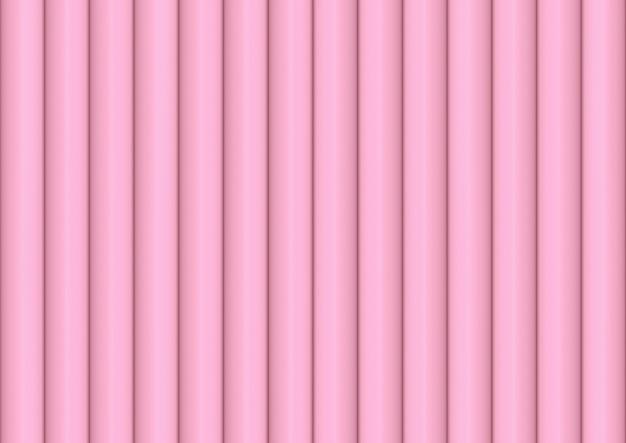 Fundo vertical cor-de-rosa macio doce da parede do teste padrão da curva do cilindro.